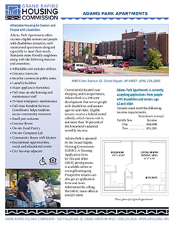 Fact sheet for Adams Park Apartments