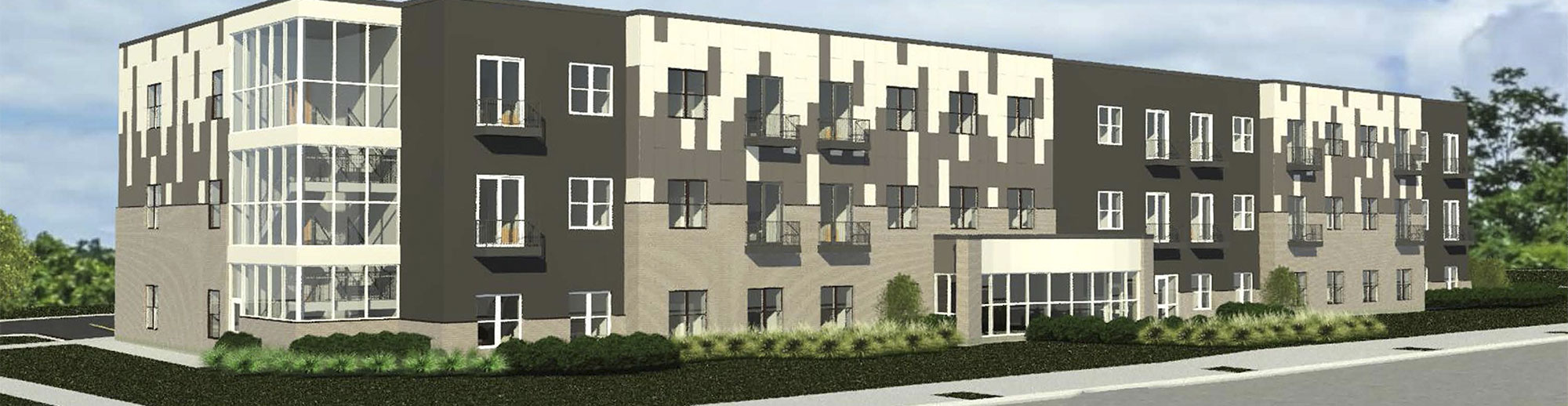 Architect's rendering of Antoine Court Apartments