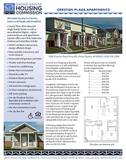 Fact sheet for Creston Plaza Apartments