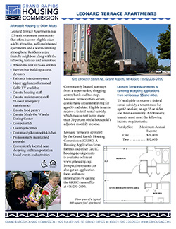 Fact sheet for Leonard Terrace Apartments