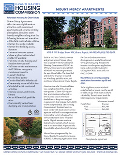 Fact sheet for Mount Mercy Apartments
