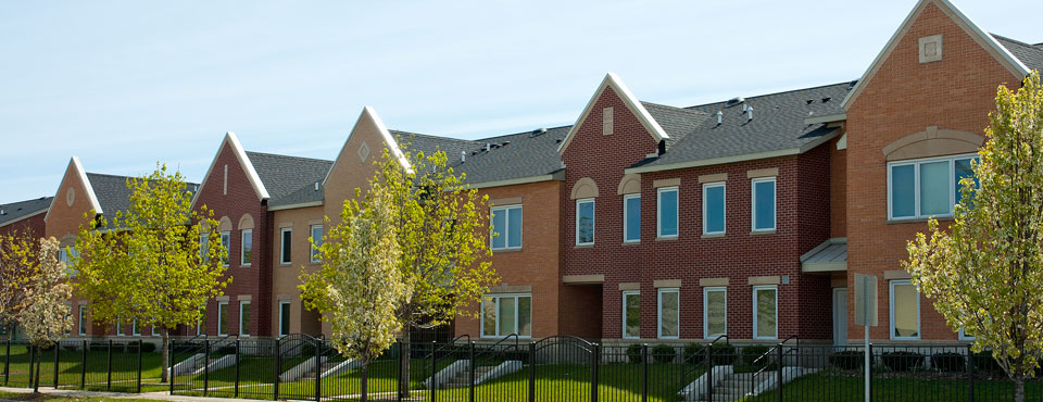 Campau Commons Apartments rowhouse units